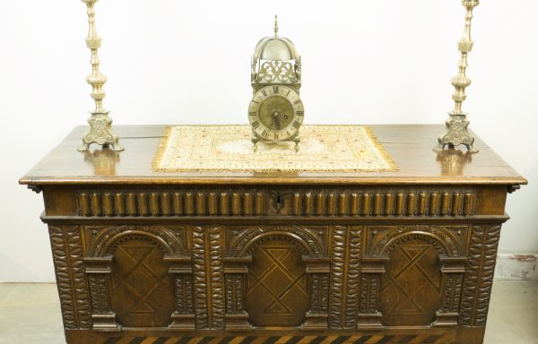 Period Oak Elizabethan 3 Panel Chest
