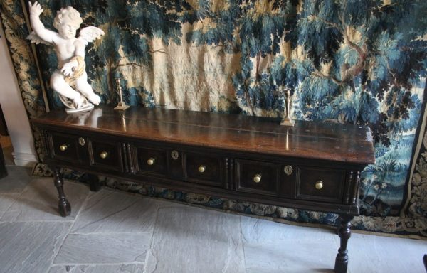 Fabulous Charles II Moulded Fronted Period Oak Low Dresser