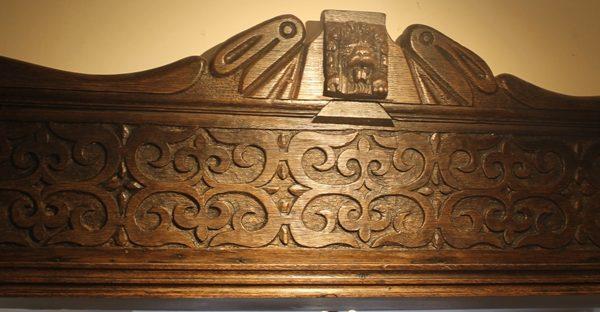Period Oak Overdoor Panel