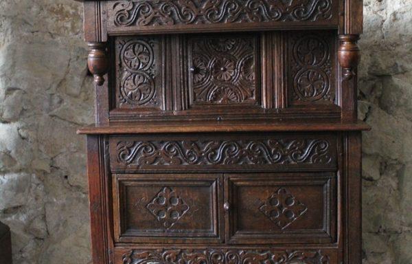 Very Rare Elizabethan Period Oak Childs Court Cupboard