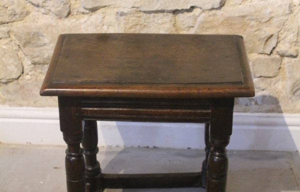 Period Oak Joint Stool
