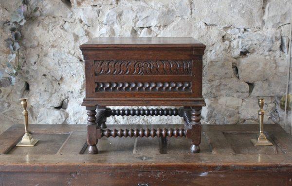 Charles I Period Oak Box Stool