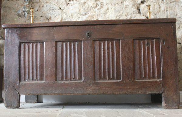 Large Tudor 16th Century Oak Chest