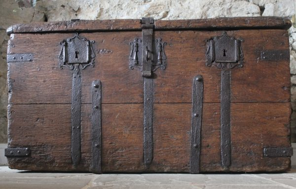 Museum Quality Medieval Oak Iron Bound Chest