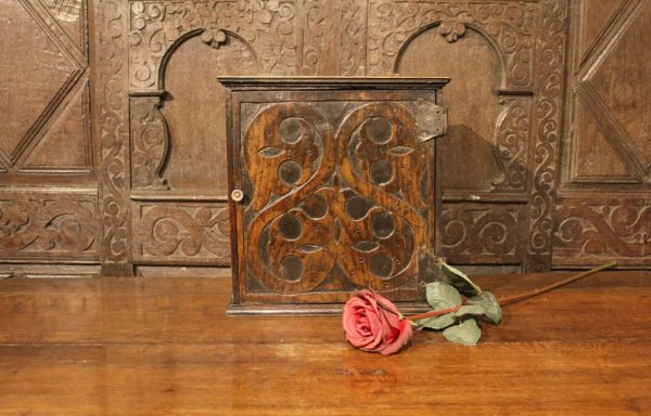 17th Century Period Oak Spice Cupboard
